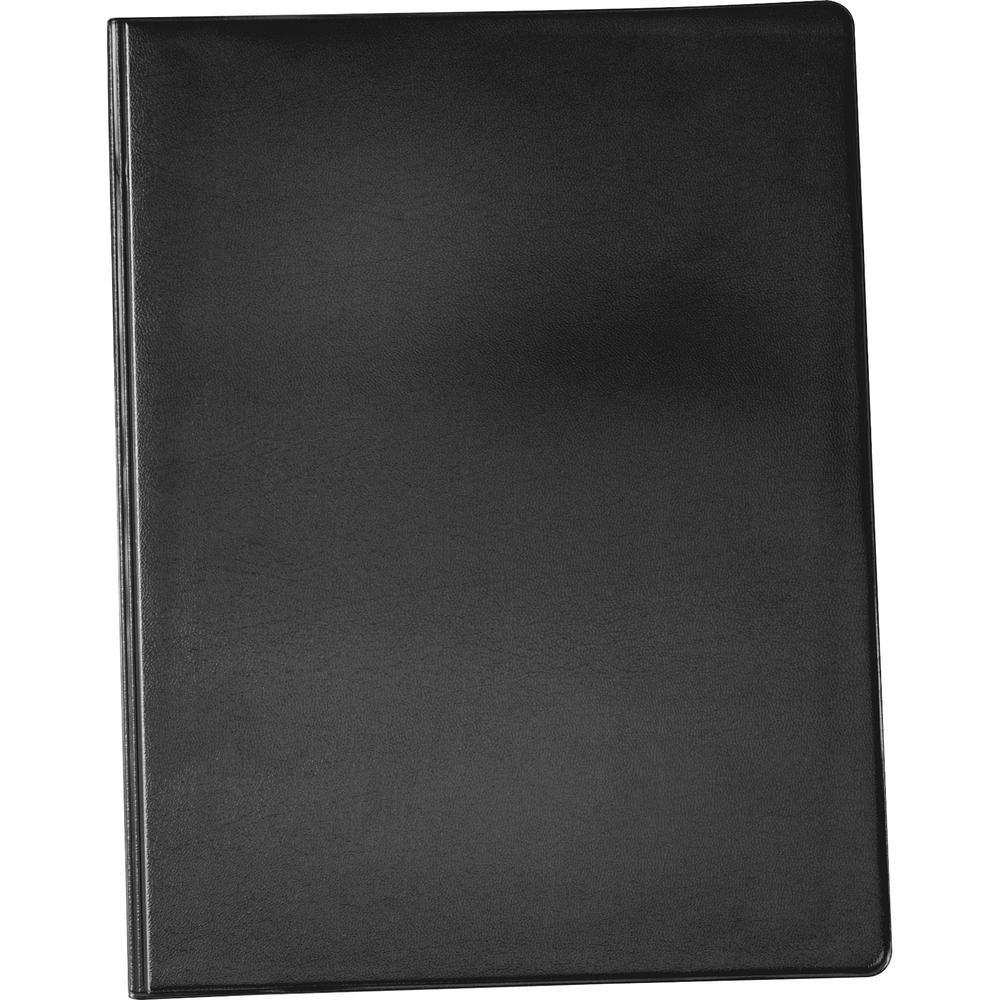 "Cardinal Letter Pad Folio - 9 1/2"" x 12 1/2"" - 100 Sheet Capacity - 1 Inside Front Pocket(s) - Vinyl, Polyvinyl Chloride (PVC) - Black - 1 Each. Picture 5"