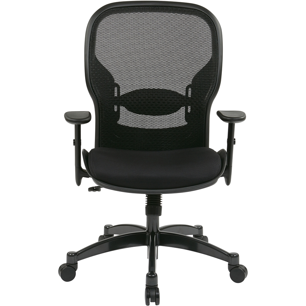 """Office Star Space 2300 Matrex Managerial Mid-Back Mesh Chair - Mesh Black Seat - Mesh Back - 5-star Base - Black - 20"""" Seat Width x 19.50"""" Seat Depth - 27.3"""" Width x 25.8"""" Depth x 46.3"""" Height. Picture 10"""