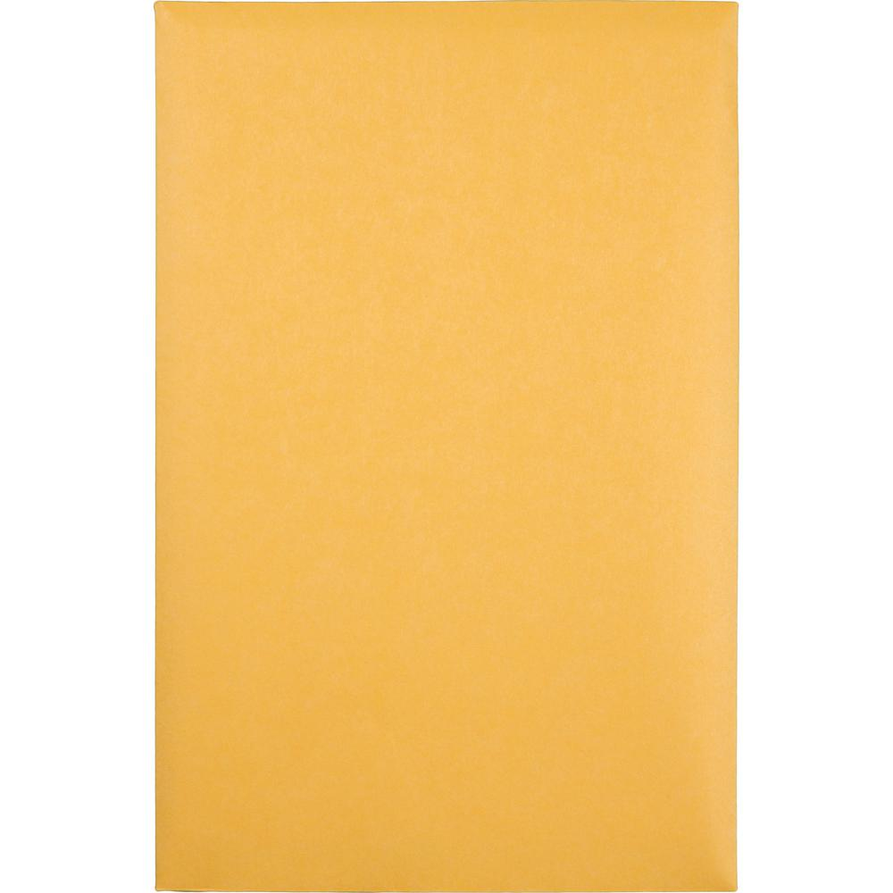 "Quality Park Kraft Catalog Envelopes - Catalog - #1 - 6"" Width x 9"" Length - 28 lb - Gummed - Kraft - 100 / Box - Kraft. Picture 6"