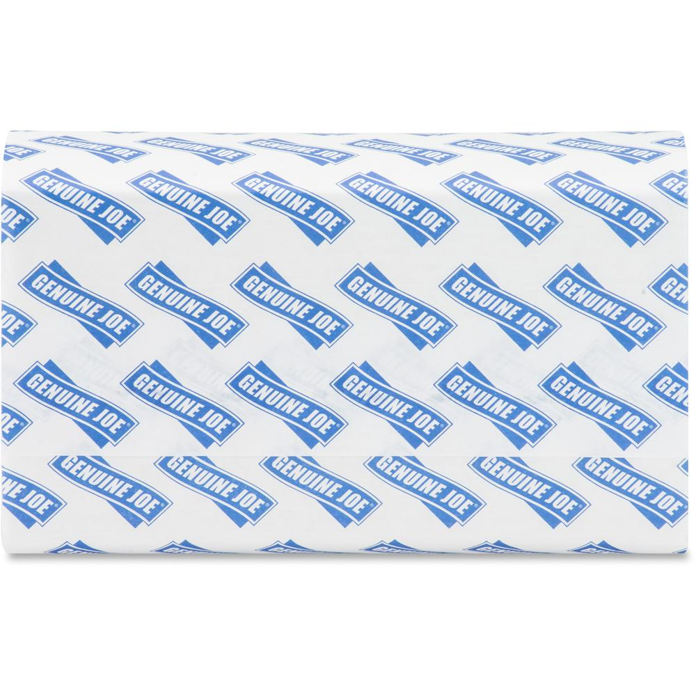 """Genuine Joe Multifold Towels - 1 Ply - 9.20"""" x 9.40"""" - White - Interfolded, Embossed, Anti-contamination, Chlorine-free - For Restroom, Public Facilities - 250 Quantity Per Bundle - 4000 / Carton. Picture 8"""