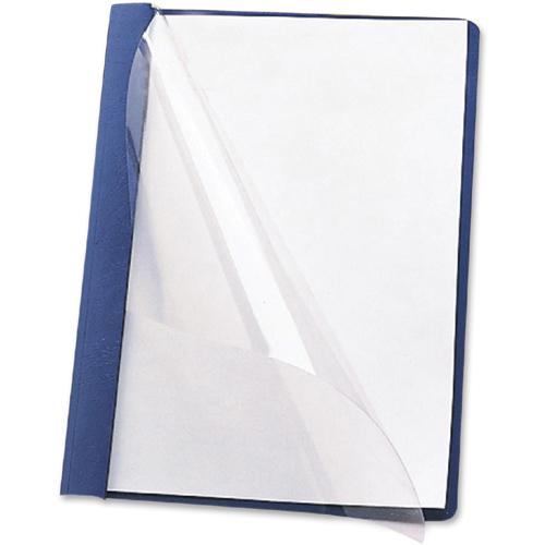 """Smead Letter Recycled Report Cover - 8 1/2"""" x 11"""" - 3 Fastener(s) - 1/2"""" Fastener Capacity for Folder - Vinyl - Blue - 50% - 25 / Box. Picture 3"""