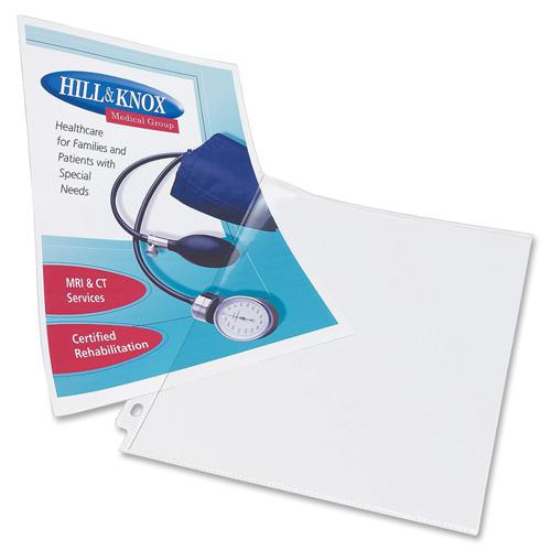 """Avery® Side Insert Sheet Protectors - For Letter 8 1/2"""" x 11"""" Sheet - Clear - Polypropylene - 25 / Pack. Picture 4"""