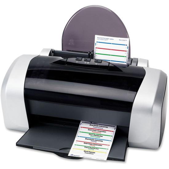 """Avery® reg; File Folder Labels - 4"""" Height x 6"""" Width - Permanent Adhesive - Rectangle - Laser, Inkjet - Dark Blue, Dark Red, Green, Yellow - Paper - 7 / Sheet - 36 Total Sheets - 252 Total Label(. Picture 3"""