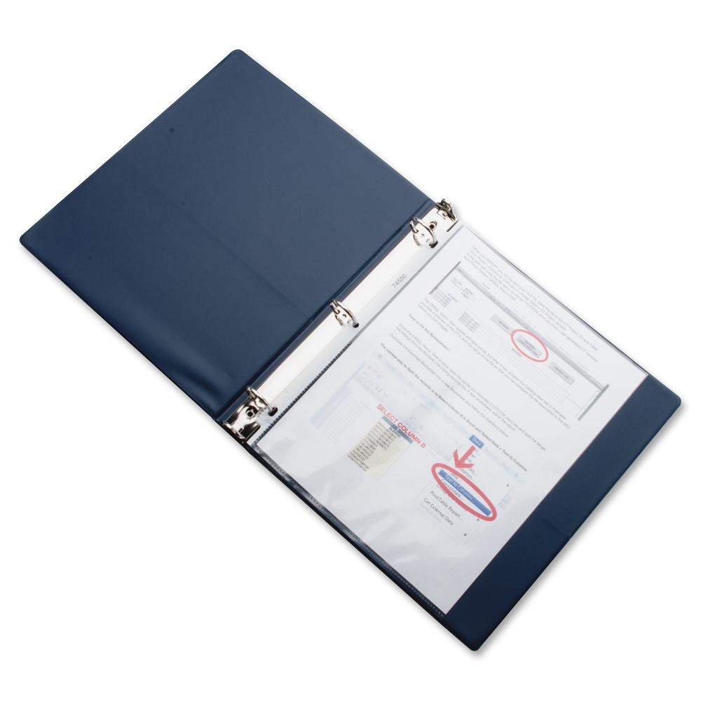 """Business Source Top-Loading Poly Sheet Protectors - 3.3 mil Thickness - For Letter 8 1/2"""" x 11"""" Sheet - Ring Binder - Rectangular - Clear - Poly - 100 / Box. Picture 6"""