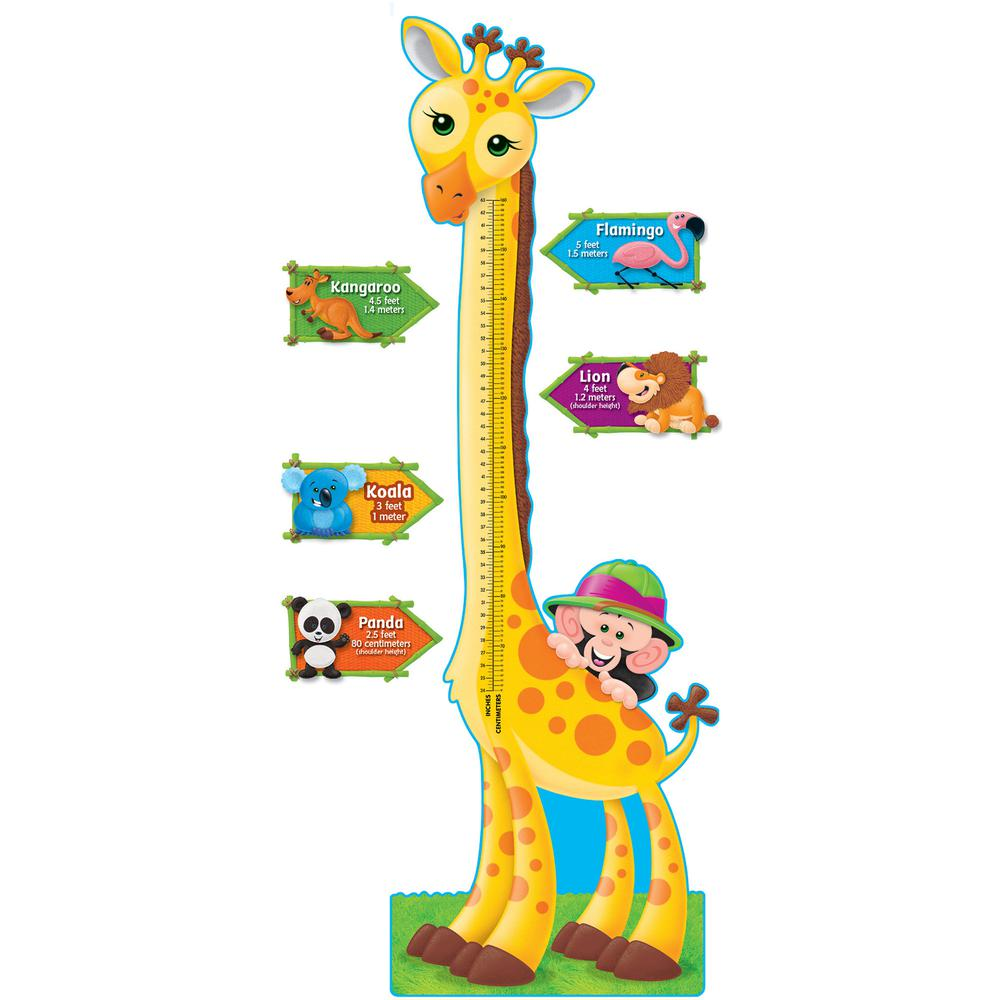Trend giraffe growth chart bulletin board set animal theme trend giraffe growth chart bulletin board set animal themesubject 1 2 5 giraffe monkey animal shape 60 height multicolor 1 set nvjuhfo Image collections