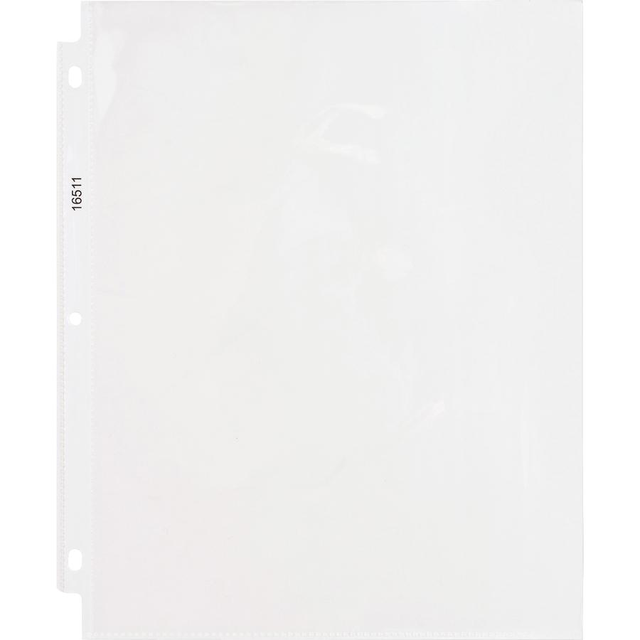 """Business Source Top-Loading Poly Sheet Protectors - 5 mil Thickness - For Letter 8 1/2"""" x 11"""" Sheet - Rectangular - Clear - Polypropylene - 50 / Box. Picture 2"""