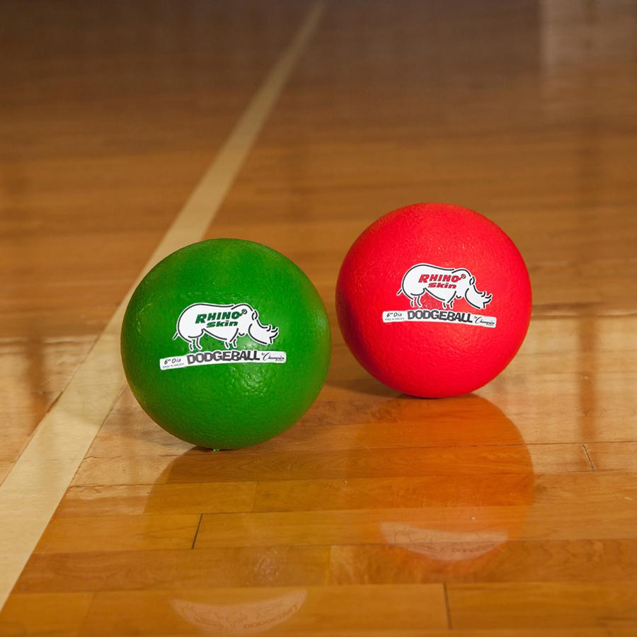 "Champion Sports 6 Inch Rhino Skin Low Bounce Dodgeball Set - 6.30"" - Low Density Foam - Dodgeball - Red, Orange, Yellow, Green, Blue, Purple - 8 / Case. Picture 4"