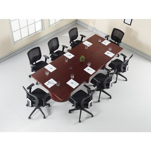 Lorell Modular Mahogany Conference Table Adder Section Square Top - Square conference room table