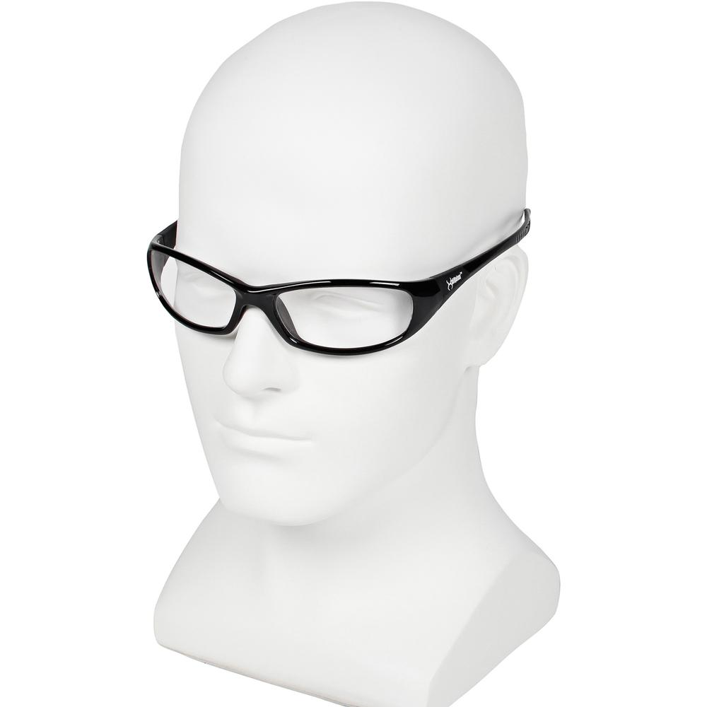 KleenGuard V40 Hellraiser Safety Eyewear - Lightweight, Flexible, Comfortable, Impact Resistant, Anti-fog - Ultraviolet Protection - Polycarbonate Lens - Clear, Black - 1 Each. Picture 3