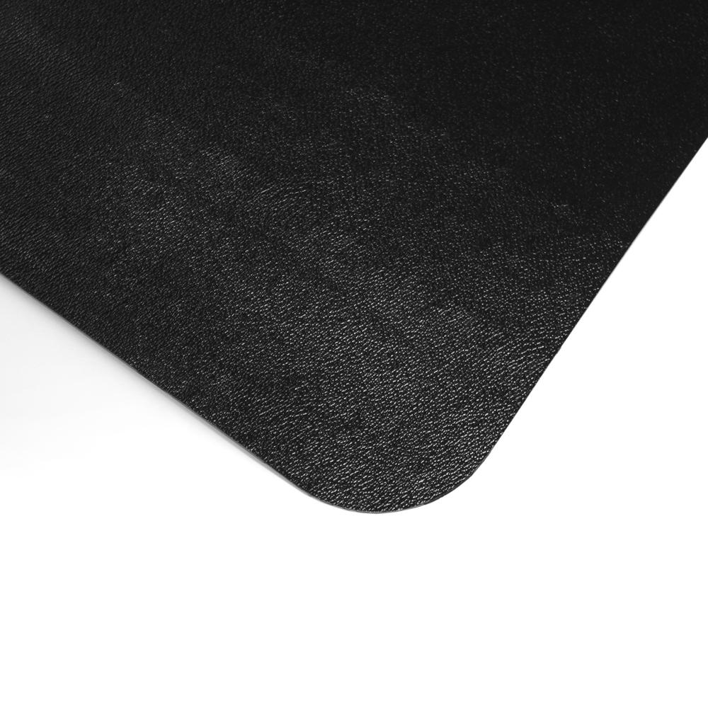 "Cleartex Advantagemat Floor Chair Mat - Hard Floor - 48"" Length x 36"" Width x 0.60"" Thickness - Lip Size 20"" Length x 10"" Width - Rectangle - Classic - Polyvinyl Chloride (PVC) - Black. Picture 4"