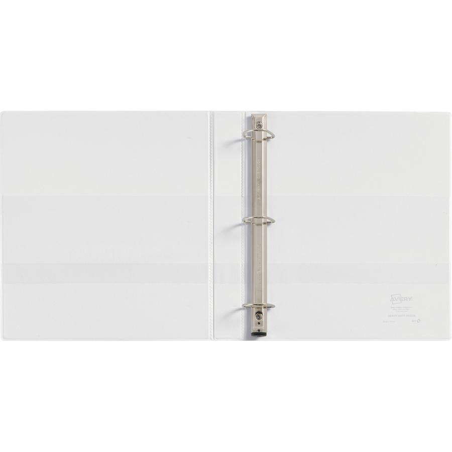 """Avery® Heavy-Duty View 3 Ring Binder - 1"""" Binder Capacity - Letter - 8 1/2"""" x 11"""" Sheet Size - 275 Sheet Capacity - 3 x Ring Fastener(s) - 4 Internal Pocket(s) - Polypropylene - White - Recycled -. Picture 4"""