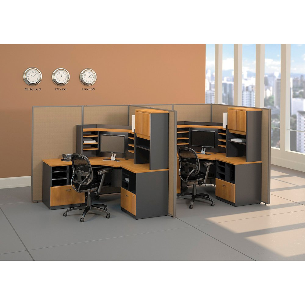 "Bush Business Furniture Series A 3 Drawer Mobile Pedestal - Assembled - 15.5"" x 20.3"" x 28.2"" - 3 x File Drawer(s) - Material: Pressboard, Melamine, Hardwood, Engineered Wood, Wood - Finish: Laminate,. Picture 8"