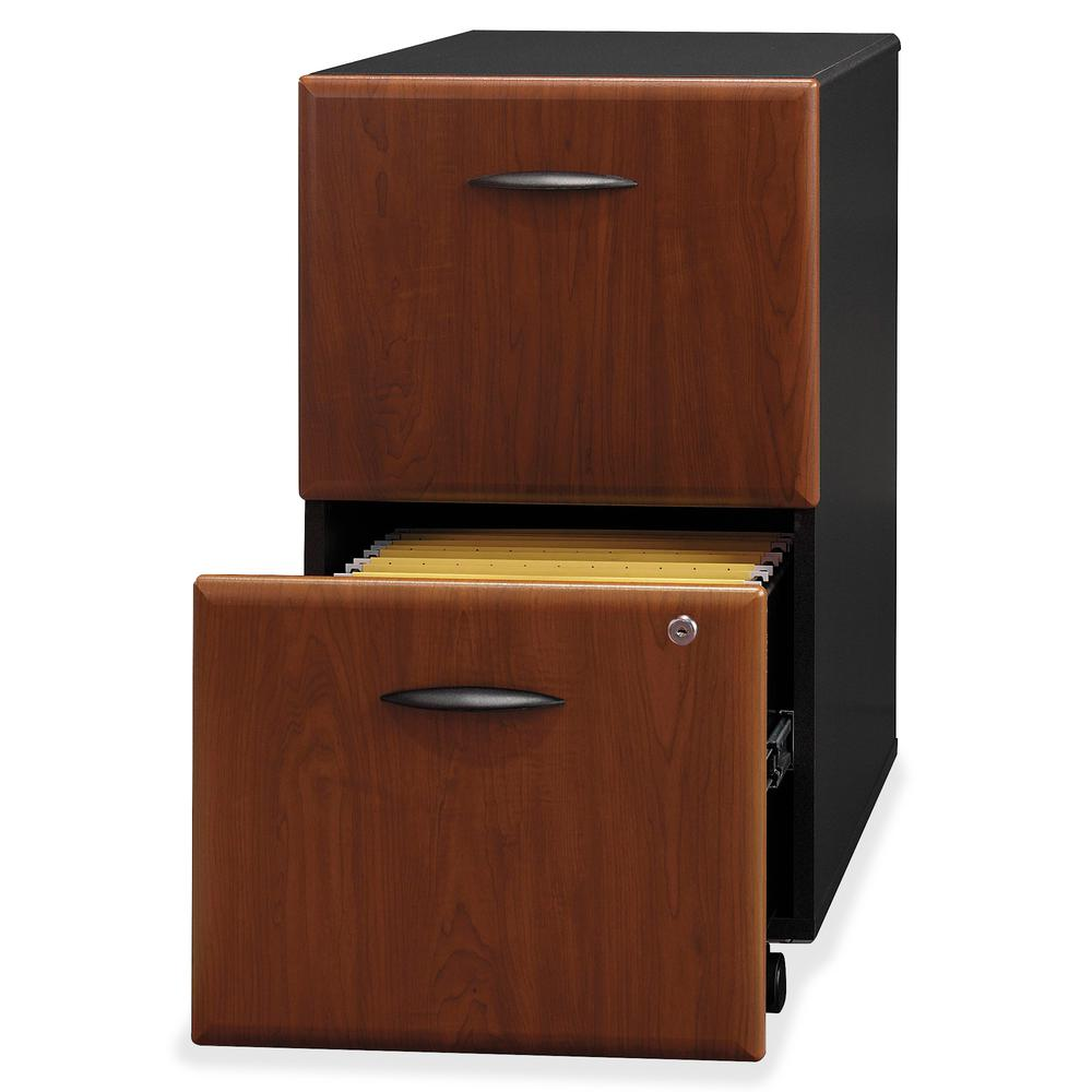 Bush Business Furniture Series A 2 Drawer Mobile File Cabinet, Assembled, Hansen Cherry/Galaxy. Picture 5