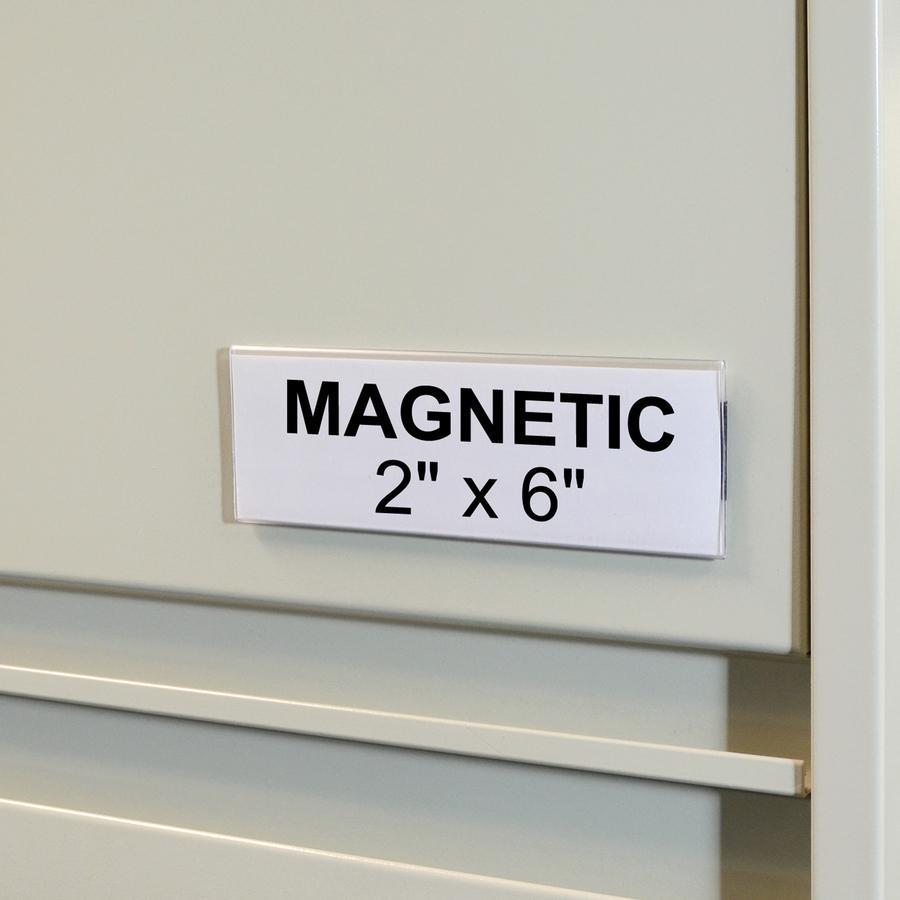 C Line Hol Dex Magnetic Shelf Bin Label Holders 2 Inch X