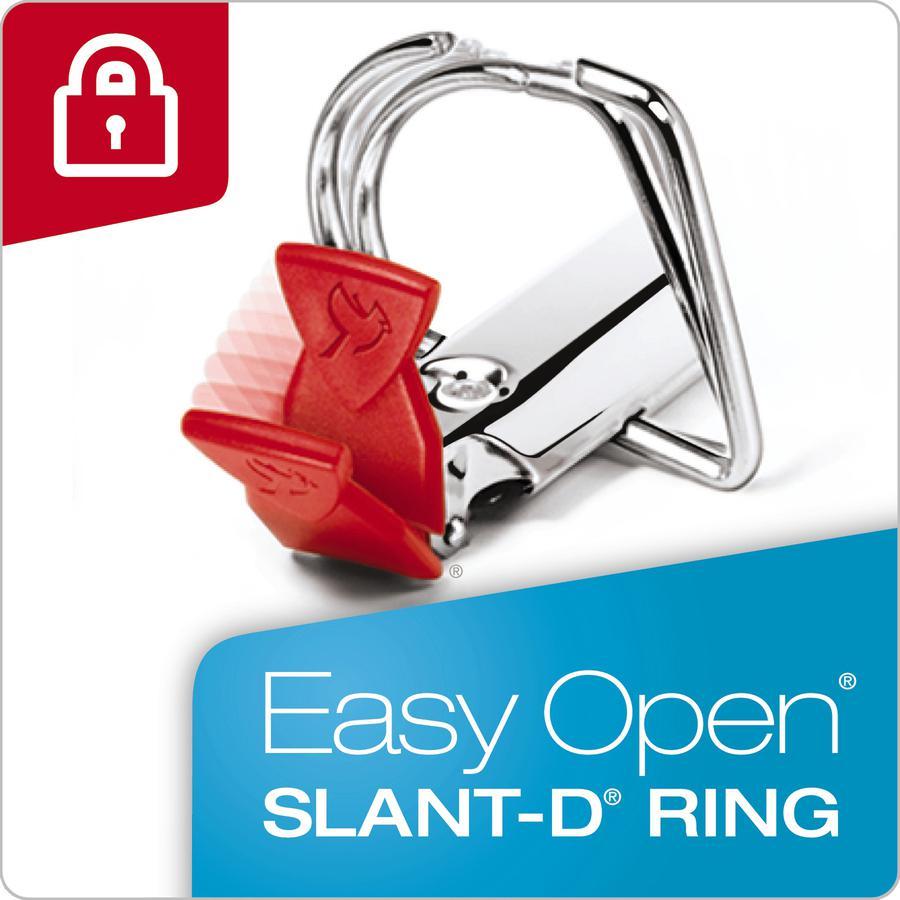 "Cardinal EasyOpen Clearvue Slant D-Ring Binders - 2"" Binder Capacity - Letter - 8 1/2"" x 11"" Sheet Size - 525 Sheet Capacity - 2 1/2"" Spine Width - 3 x D-Ring Fastener(s) - 2 Inside Front & Back Pocke. Picture 4"