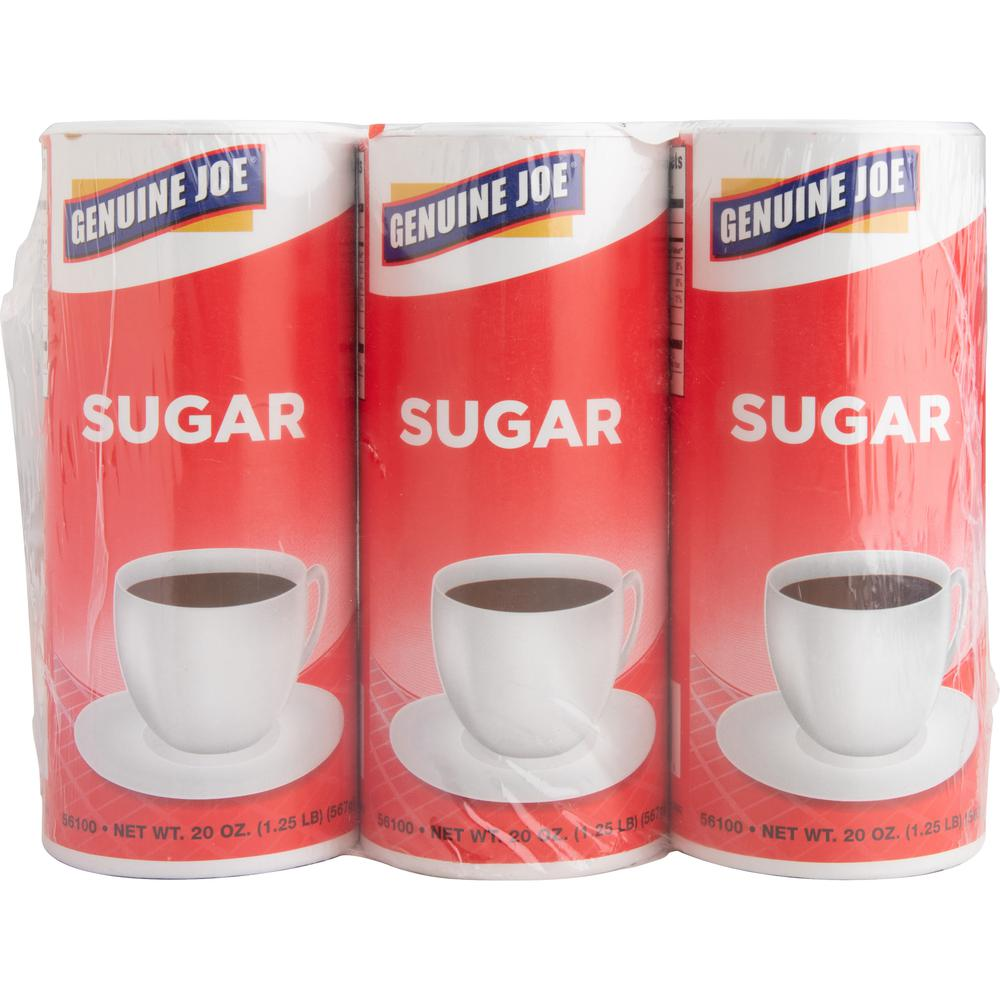 Genuine Joe 20 oz. Sugar Canister - Canister - 1.2 lb (20 oz) - Natural Sweetener - 3/Pack. Picture 9