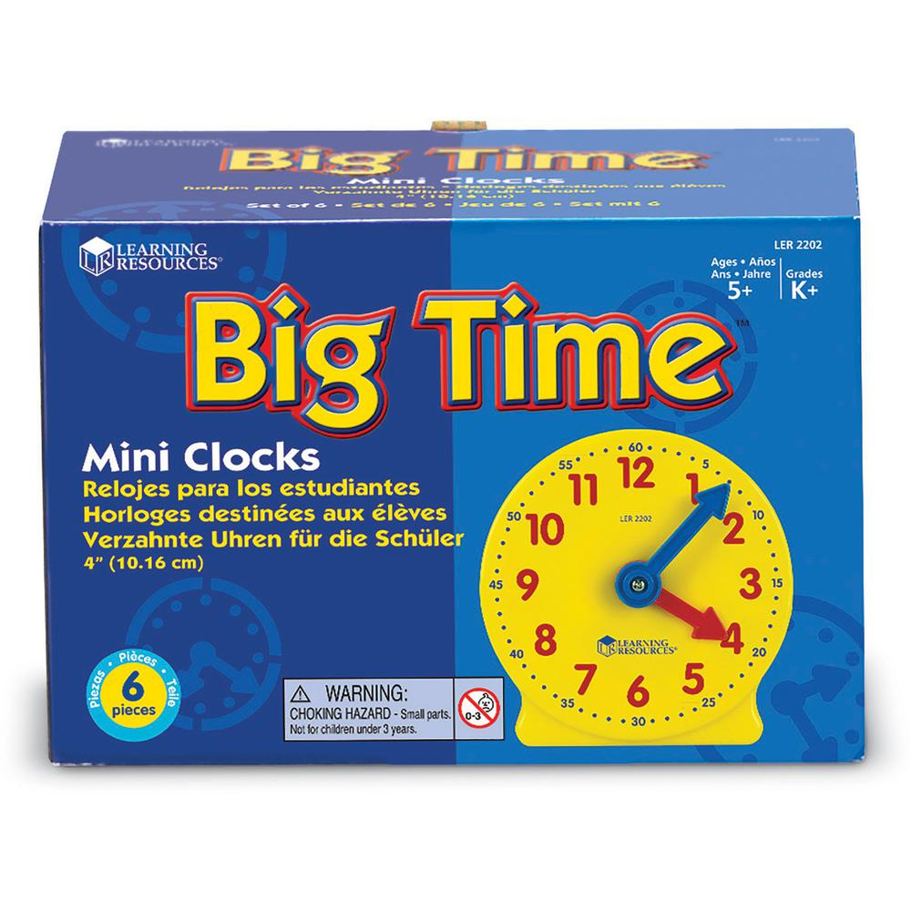 Learning Resources Pre K-4 Learning Clocks Set - Theme/Subject: Learning - Skill Learning: Time - 3-9 Year - Multi. Picture 4