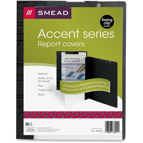 smead accent series poly report covers letter 8 1 2 x 11 sheet