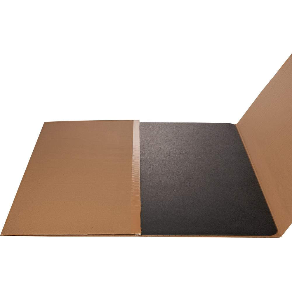 "Deflecto Black EconoMat for Hard Floors - Hard Floor, Office, Carpeted Floor, Breakroom - 60"" Length x 46"" Width - Rectangle - Vinyl - Black. Picture 2"