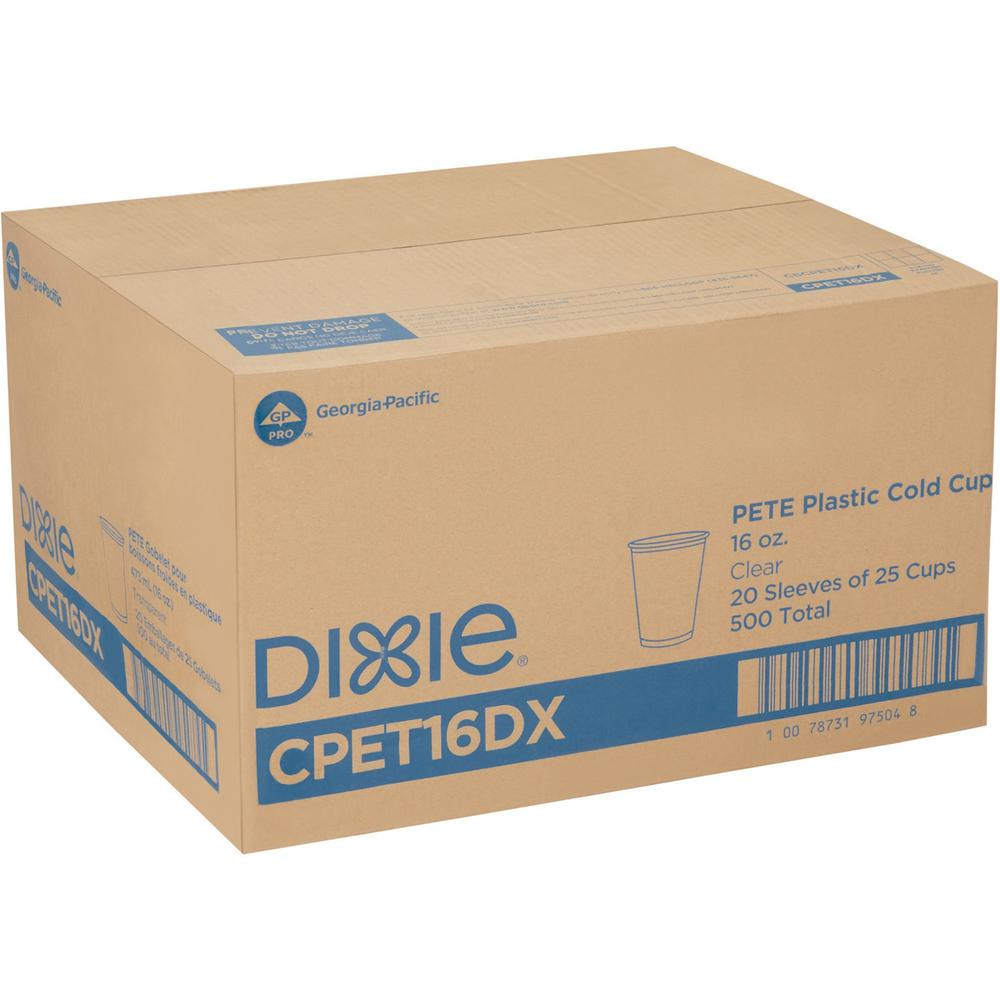 Dixie Cold Cups by GP Pro - 16 fl oz - 25 / Pack - Clear - PETE Plastic - Soda, Iced Coffee, Sample, Breakroom, Restaurant, Lobby, Coffee Shop. Picture 2