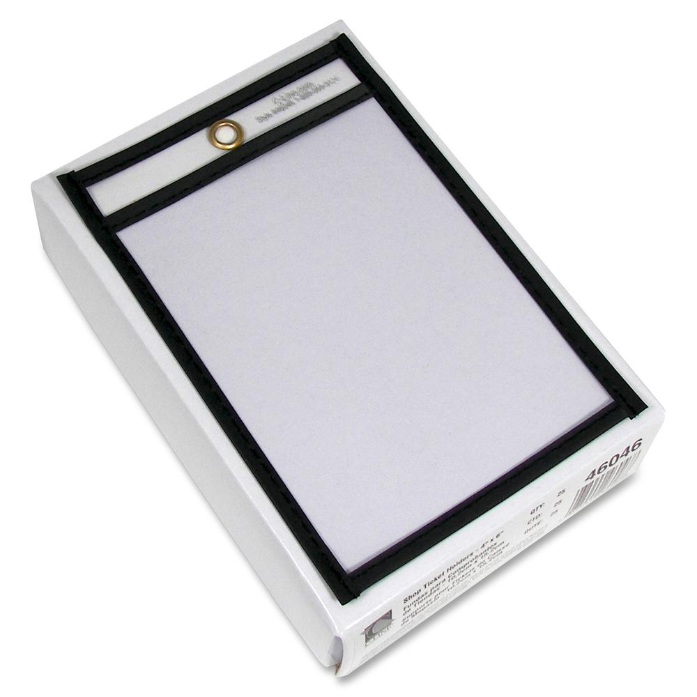 C line stitched plastic shop ticket holder 4 width x 6 for 11x14 paper size
