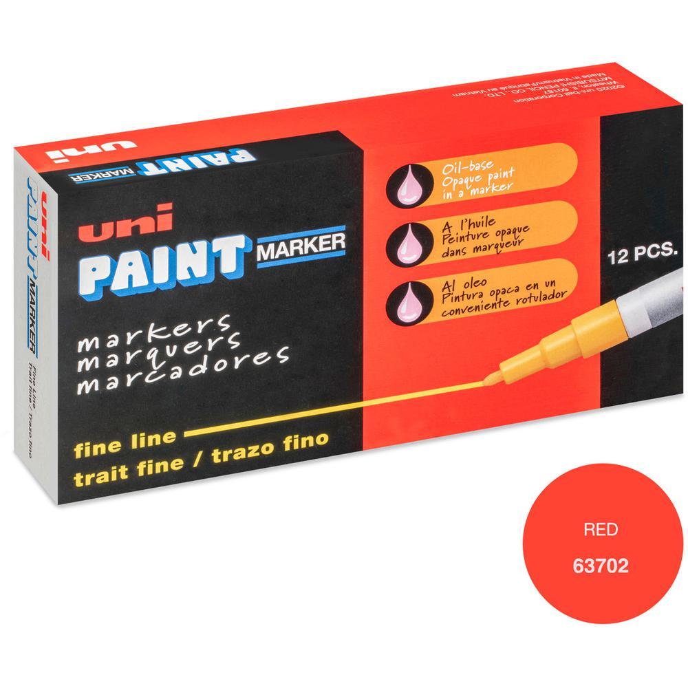uni-ball Uni-Paint PX-21 Oil-Based Fine Point Marker - Fine Marker Point - Red Oil Based Ink - 1 Each. Picture 5