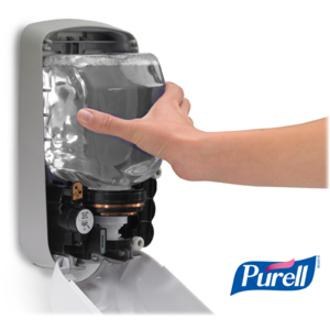 PURELL® TFX Touch-free Sanitizer Dispenser - Automatic - 1.27 quart Capacity - Support 3 x C Battery - Gray - 1Each. Picture 4