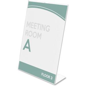 """Deflecto Superior Image Slanted Sign Holders - 1 Each - 7"""" Width x 5"""" Height - Top Loading - Plastic - Clear. Picture 7"""