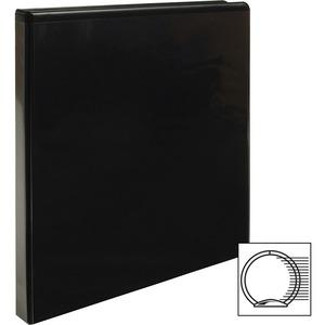 "Business Source Round-ring View Binder - 1/2"" Binder Capacity - Letter - 8 1/2"" x 11"" Sheet Size - 125 Sheet Capacity - Round Ring Fastener(s) - 2 Internal Pocket(s) - Polypropylene - Black - Wrinkle-. Picture 6"