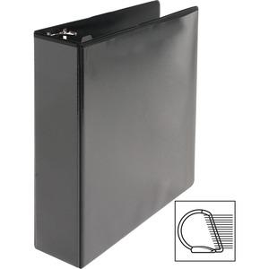 """Business Source Basic D-Ring View Binders - 2"""" Binder Capacity - Letter - 8 1/2"""" x 11"""" Sheet Size - D-Ring Fastener(s) - Polypropylene - Black - Clear Overlay - 1 Each. Picture 6"""