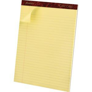 """TOPS Gold Fibre Premium Rule Writing Pads - Letter - 50 Sheets - Watermark - Stapled/Glued - 0.34"""" Ruled - 20 lb Basis Weight - 8 1/2"""" x 11"""" - Yellow Paper - Micro Perforated, Bleed-free, Chipboard Ba. Picture 5"""