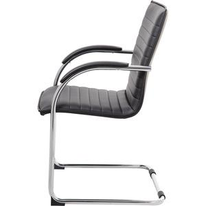 """Boss Chrome Frame, Black Vinyl Side Chair, 2 pack - Black Vinyl Seat - Black Vinyl Back - Chrome Polywood Frame - Cantilever Base - 20"""" Seat Width x 18"""" Seat Depth - 23"""" Width x 24.5"""" Depth x 37.5"""" He. Picture 5"""