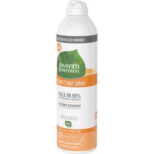 Seventh Generation Disinfectant Cleaner - Spray - 13.9 fl oz (0.4 quart) - Fresh Citrus & Thyme Scent - 8 / Carton - Clear. Picture 2