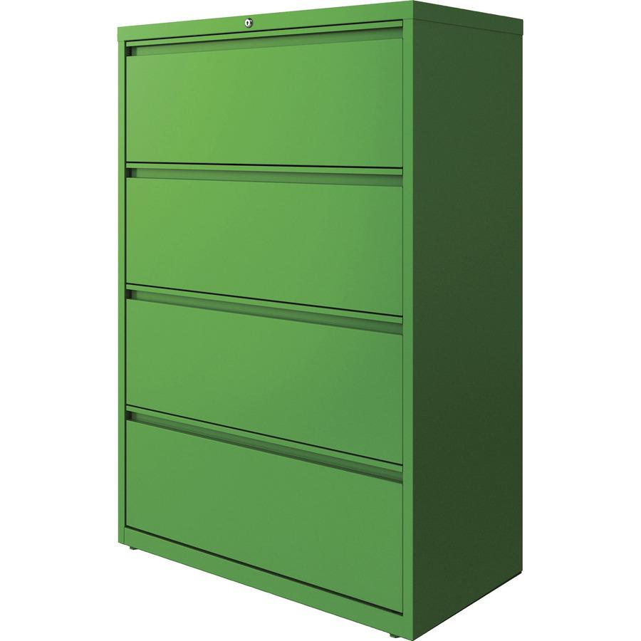 "Lorell 4-drawer Lateral File - 36"" x 18.8"" x 52.5"" - 4 x Drawer(s) for File - Letter, Legal, A4 - Lateral - Hanging Rail, Label Holder, Durable, Nonporous Surface, Removable Lock, Locking Bar, Pull-ou. Picture 5"