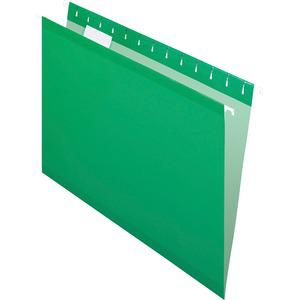 """Pendaflex 1/5 Tab Cut Letter Recycled Hanging Folder - 8 1/2"""" x 11"""" - Bright Green - 10% - 25 / Box. Picture 4"""