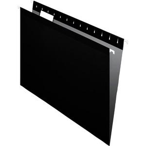 "Pendaflex 1/5 Tab Cut Letter Recycled Hanging Folder - 8 1/2"" x 11"" - Black - 10% - 25 / Box. Picture 3"