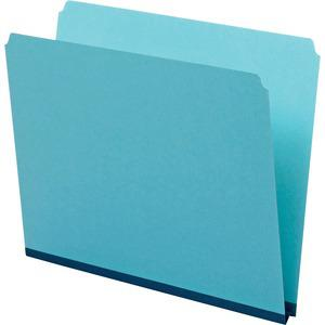 """Pendaflex Letter Recycled Top Tab File Folder - 8 1/2"""" x 11"""" - 1"""" Expansion - Pressboard - Blue - 60% - 25 / Box. Picture 4"""