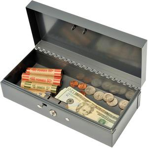 """MMF Cash Bond Box with out Tray - 5 Bill - Steel - Charcoal Gray - 2.9"""" Height x 10.3"""" Width x 4.4"""" Depth. Picture 4"""