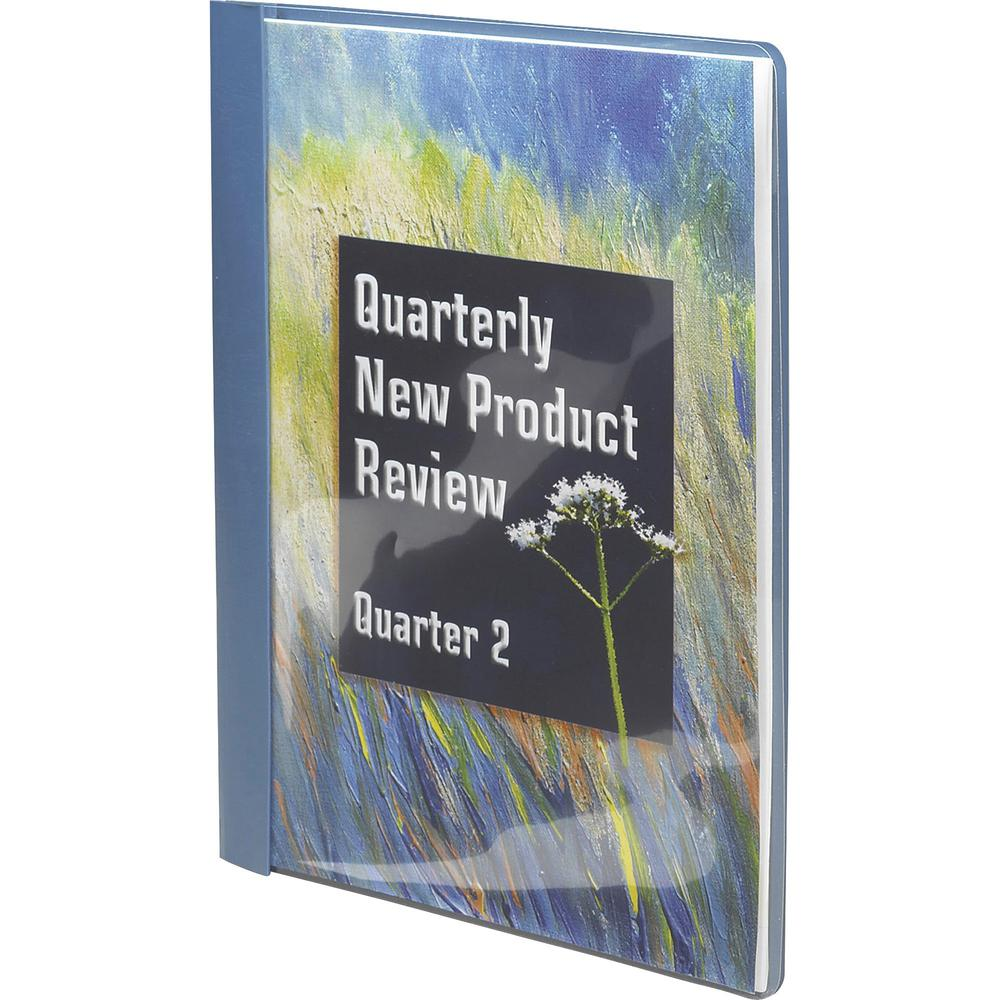 """Smead Letter Recycled Report Cover - 8 1/2"""" x 11"""" - 3 Fastener(s) - 1/2"""" Fastener Capacity for Folder - Vinyl - Blue - 50% - 25 / Box. Picture 2"""