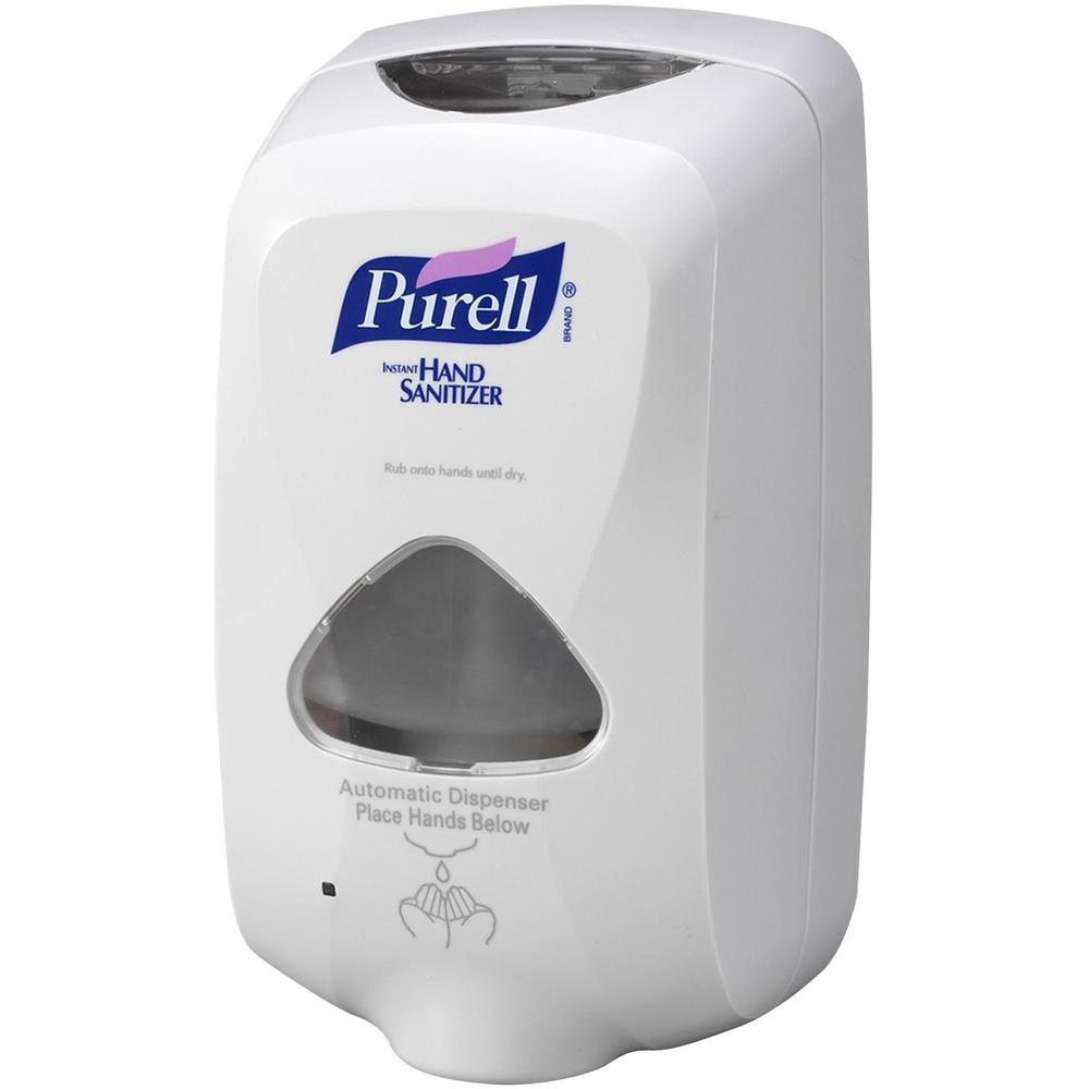 PURELL® TFX Touch-free Sanitizer Dispenser - Automatic - 1.27 quart Capacity - Support 3 x C Battery - Gray - 1Each. Picture 3