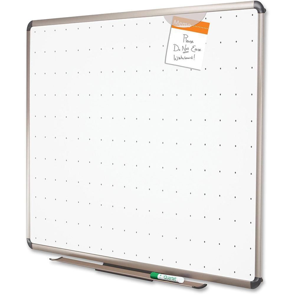 "Quartet® Prestige® Total Erase® Whiteboard - 72"" (6 ft) Width x 48"" (4 ft) Height - White Surface - Titanium Aluminum Frame - Horizontal - 1 Each. Picture 5"