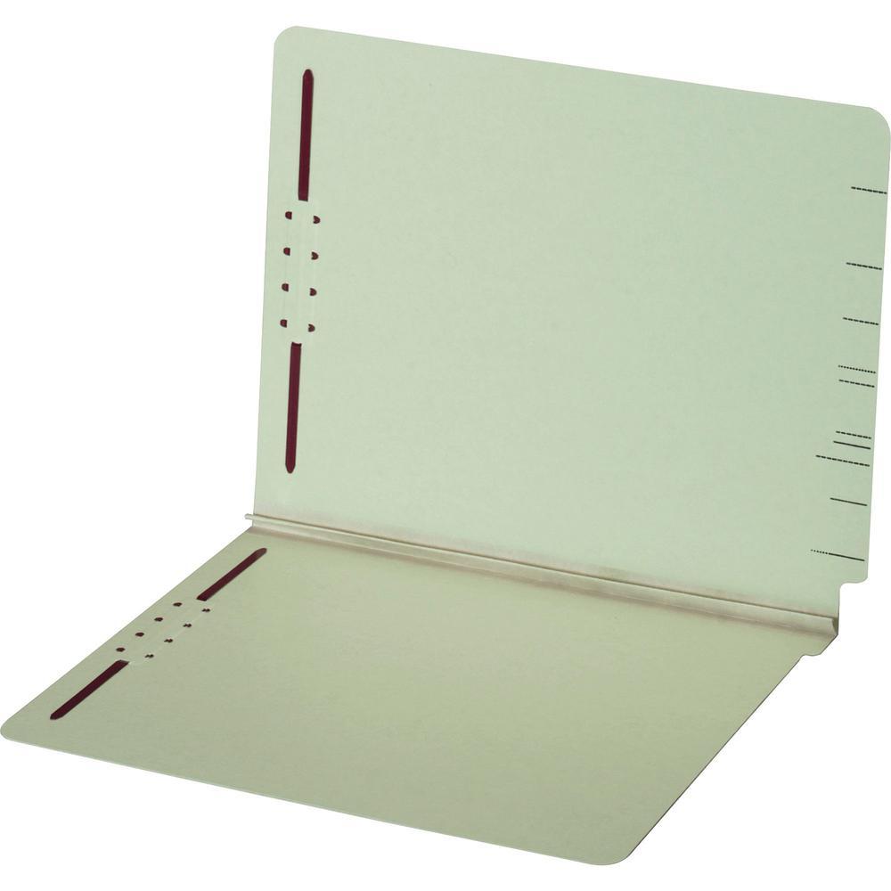 """Pendaflex Letter Recycled Fastener Folder - 8 1/2"""" x 11"""" - 2 Fastener(s) - 2"""" Fastener Capacity for Folder - Pressboard - Light Green - 60% - 25 / Box. Picture 3"""