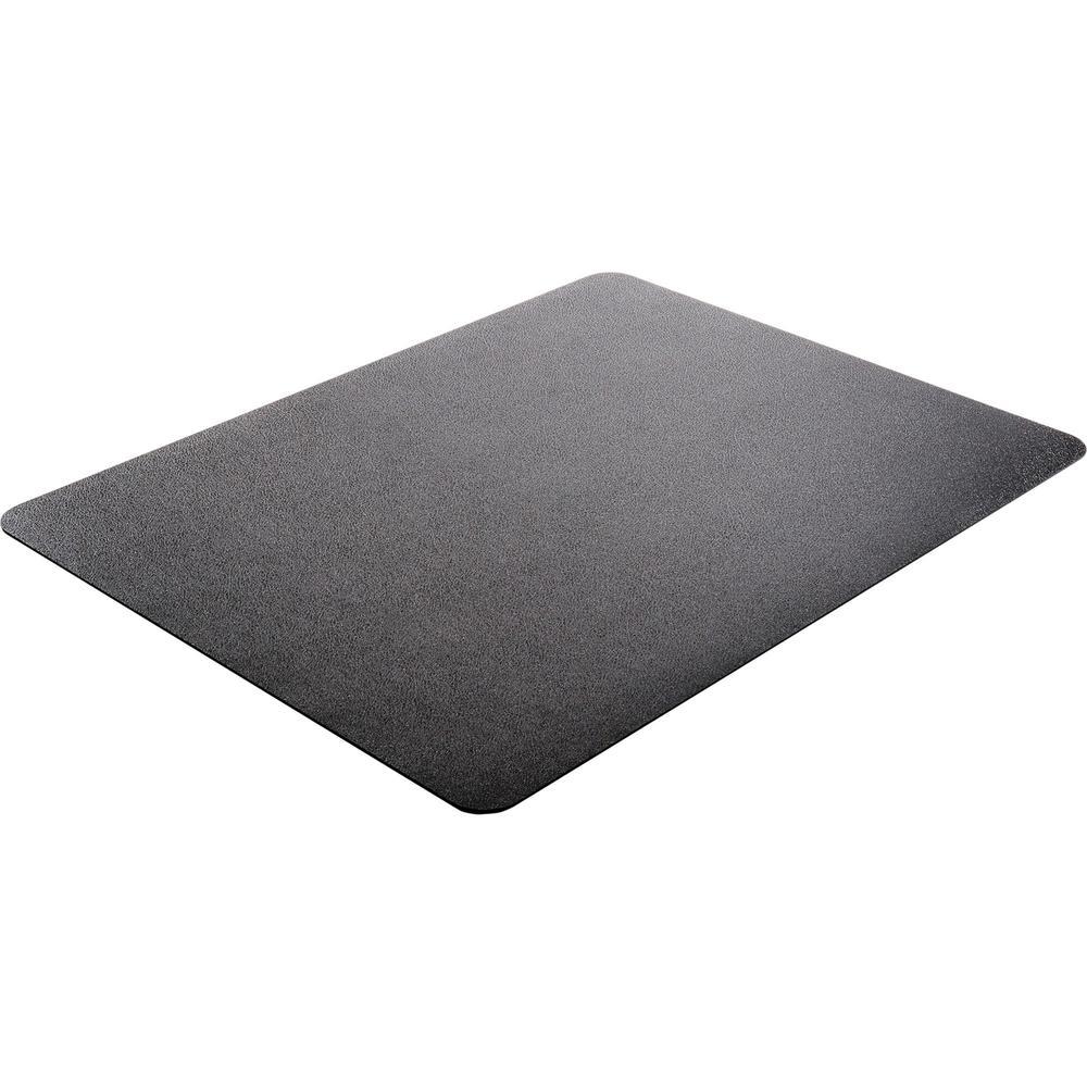 "Deflecto Black EconoMat for Hard Floors - Hard Floor, Office, Carpeted Floor, Breakroom - 60"" Length x 46"" Width - Rectangle - Vinyl - Black. Picture 4"