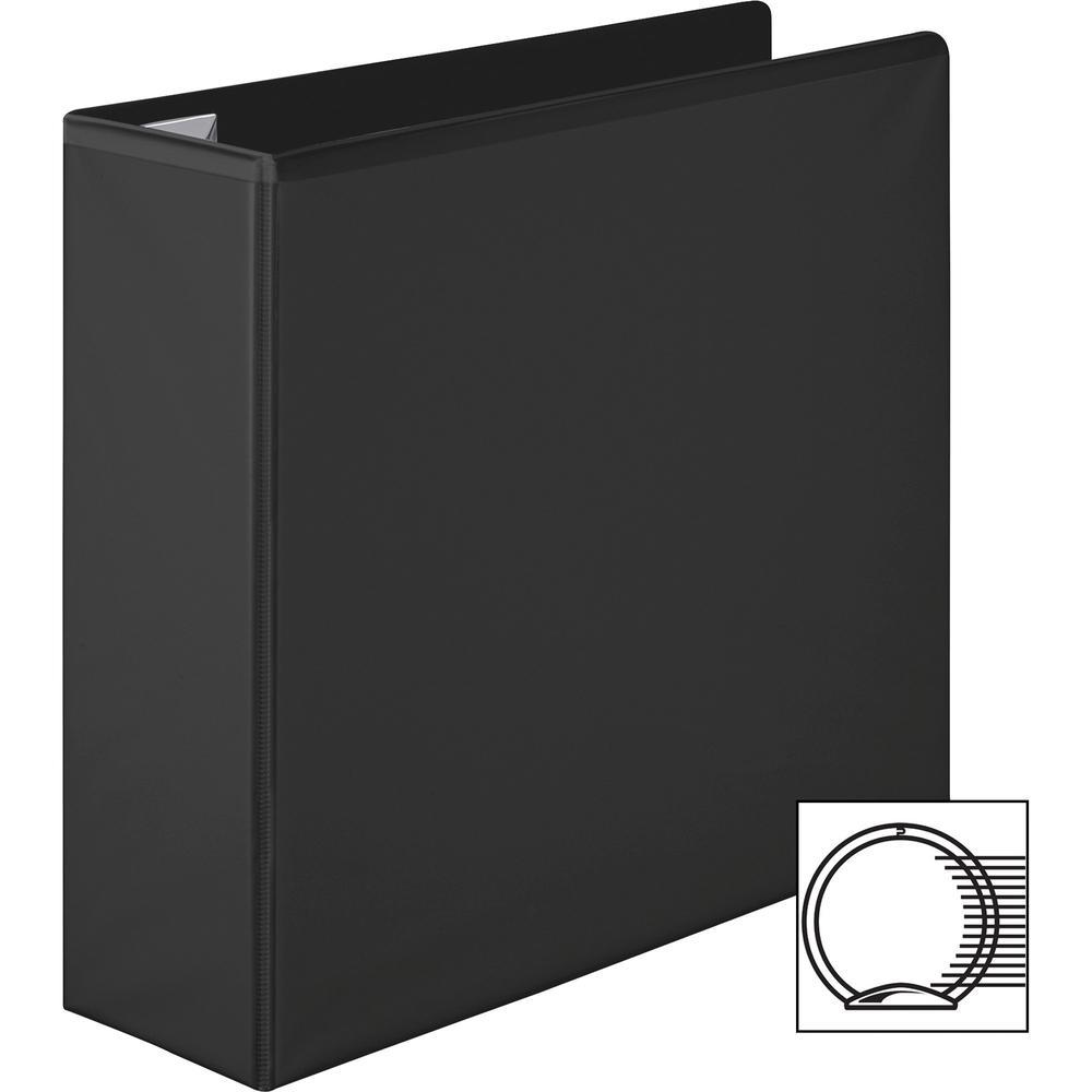 "Wilson Jones Extra Durable Hinge Ultra-Duty View Binder - 3"" Binder Capacity - Letter - 8 1/2"" x 11"" Sheet Size - 625 Sheet Capacity - 3 x Round Ring Fastener(s) - 4 Internal Pocket(s) - Polypropylene. Picture 7"