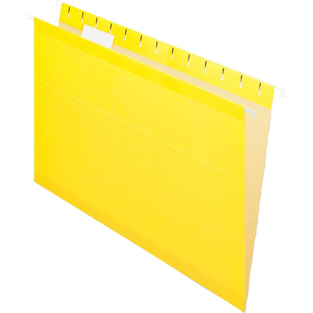 """Pendaflex 1/5 Tab Cut Legal Recycled Hanging Folder - 8 1/2"""" x 14"""" - Yellow - 10% - 25 / Box. Picture 3"""