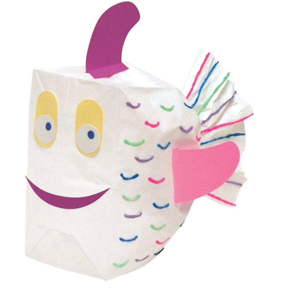 """Rainbow Kraft Bag - Art Project, Craft Project, Bag, Hat - 11"""" x 6"""" - 28 / Pack - Assorted - Kraft. Picture 9"""