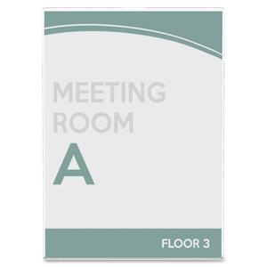 """Deflecto Superior Image Slanted Sign Holders - 1 Each - 7"""" Width x 5"""" Height - Top Loading - Plastic - Clear. Picture 8"""