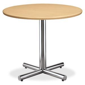 """HON Hospitality Table X-Base - 26"""" Height x 26"""" Width - Assembly Required - Chrome. Picture 4"""
