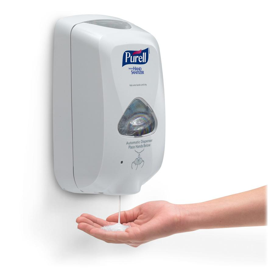 PURELL® TFX Touch-free Sanitizer Dispenser - Automatic - 1.27 quart Capacity - Support 3 x C Battery - Gray - 1Each. Picture 5