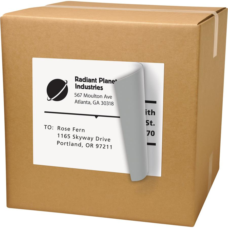 """Avery® Shipping Labels - TrueBlock - 8 1/2"""" x 11"""" Length - Permanent Adhesive - Rectangle - Laser, Inkjet - White - 1 / Sheet - 25 / Pack. Picture 4"""